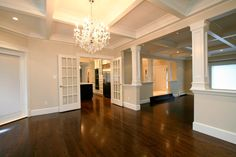 Love coffered ceilings, and the colors and the wood floors go nicely with it!