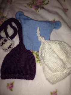 Fun baby hats I hand knitted