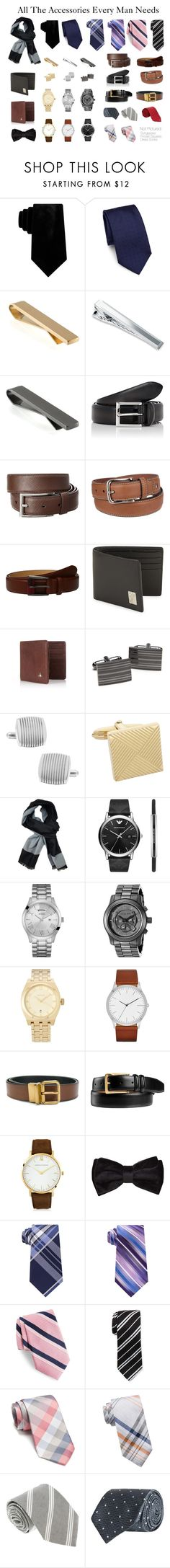 """""""All The Accessories Every Man Needs"""" by hlang4411 on Polyvore featuring Sean John, Salvatore Ferragamo, Würkin Stiffs, Blue Nile, Barneys New York, Prada, Tommy Hilfiger, Ted Baker, Versace and Vivienne Westwood"""