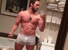Chris Pratt - this is the guy from Parks & Rec after his training for Zero Dark Thirty to play a Navy SEAL. Wow.