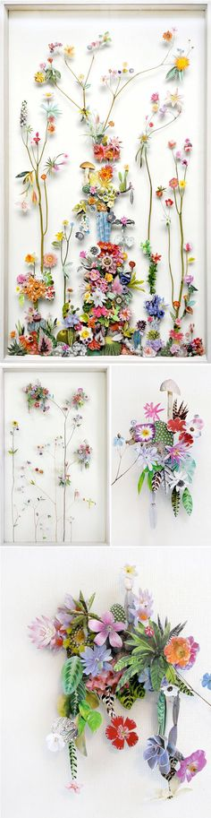 Not your basic pressed flowers at all. These are  artworks