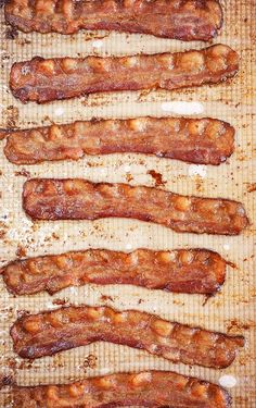Oven Baked Bacon on a baking sheet with parchment paper.