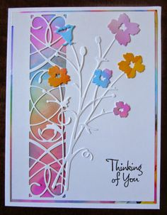 """By Vicki. Memory Box """"Lucienne Tile"""" and """"Bella Bouquet."""""""