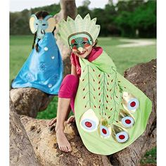 Child-Sized Exquisitely Detailed Animal Mask and Cape. Pin to win! Enter for your chance to win a $250 gift card at http://sweeps.piqora.com/magiccabinsummerimaginationsweepstakes Sweepstakes ends 5/20/14.