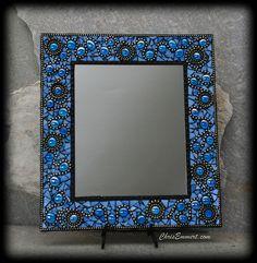 """""""Ooh La La"""" Mosaic Mirror in Blue"""