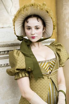 Costume yes, makeup no! Emma Pierson as Fanny Dorrit in 'Little Dorrit' (TV mini-series, Regency Dress, Regency Era, Historical Costume, Historical Clothing, Little Dorrit, Movies And Series, Movie Costumes, Pride And Prejudice, Portsmouth