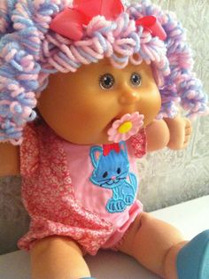 PA Cabbage Patch Kids Anniversary Babies Doll Custom Paci Popcorn Curl Reroot