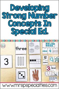Special education students need to develop a strong understanding of numbers and how they relate to each other. This deep understanding will hep them learn life skills and be functional in their community. Here are some of the materials and activities we use in order to develop strong math skills in my special education classroom. These ideas are ideal for self-contained settings and students with autism.