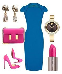 """""""Pink Pumps"""" by arta13 on Polyvore featuring Antonio Berardi, Federica Rettore, Christian Louboutin, Tom Ford, Urban Decay and Movado"""