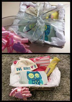 Organic Baby Shower Gift Basket on Etsy, $60.00