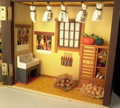 Back to my Japanese doll's house. Side of the kitchen. #dollshouse #dollhouse #japaneseculture #japan #kitchen #sushi #geisha #art #craft #handmade #modelism #deagostini #hobby #japanesedollshouse #okija