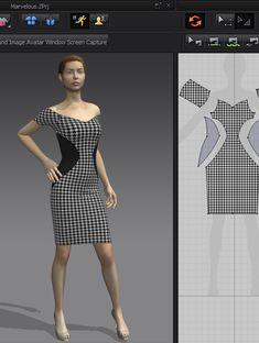 Thiết kế váy mẫu trên phần mềm thời trang 3D 3d Fashion, Virtual Fashion, Fashion Sewing, Clothing Patterns, Dress Patterns, Fashion Design Software, Fashion Illustration Dresses, Vetement Fashion, Dress Tutorials