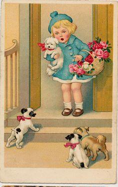Meisje Honden 1942