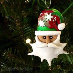 Polymer Clay Christmas Ornament Tutorial: Santa