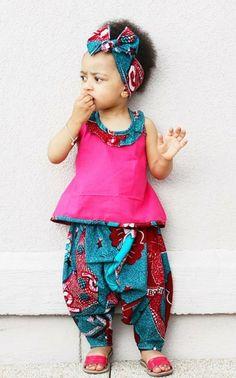 #African print for the little ones. The shoes. Too cute