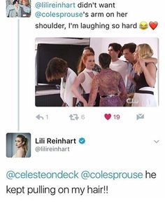 hearts eyes for Cole Sprouse and Lili Reinhart