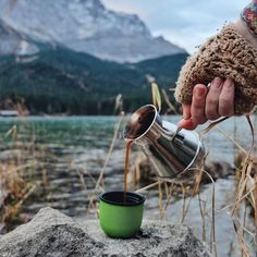 Enjoy your morning coffee, near Zugspitze mountain Eibsee Lake Germany (scheduled via http://www.tailwindapp.com?utm_source=pinterest&utm_medium=twpin&utm_content=post138115111&utm_campaign=scheduler_attribution)