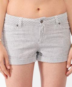 Striped Seersucker Shorts | FOREVER21 - 2000046131