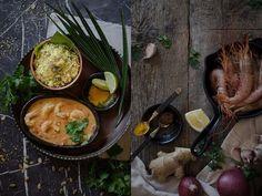 Curry de Camarones con leche de coco