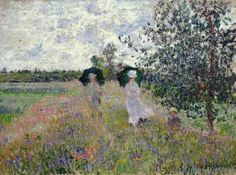 Claude Monet - Promenade near Argenteuil, 1873