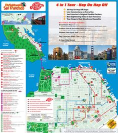 City Sightseeing Hop On Hop Off San Francisco Tour Map