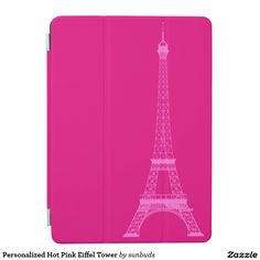 Personalized Hot Pink Eiffel Tower