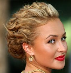 Curly Updos for prom