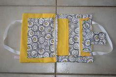 Pochette Cartable d'artiste: jaune et cercles noirs