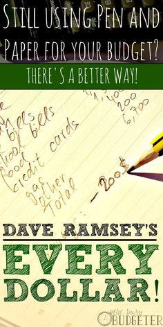 Dave Ramsey's Every Dollar -- Create a better budget.
