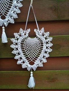 Crochet Home, Doilies, Quilling, Crochet Earrings, Projects To Try, Crochet Patterns, Christmas, Jewelry, Appliques