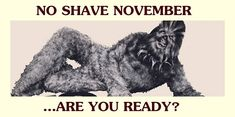 No Shave November...funny thing is...this is exactly what I look like! Be nice to take a break...