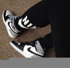 reputable site ae8cd 012bf Gray Black and White Air Jordan 1 Retro Sneakers