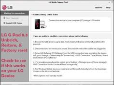 LG G Pad 8.3 unbrick, restore, & factory reset with Support Tool