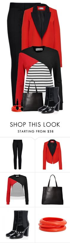 """""""Color Block & Stripes"""" by majezy ❤ liked on Polyvore featuring STELLA McCARTNEY, Lanvin, Être Cécile, SOREL, Chanel, ZENZii and Emporio Armani"""