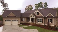 Home Plan HOMEPW77335 - 4513 Square Foot, 4 Bedroom 4 Bathroom New American Home with 2 Garage Bays | Homeplans.com