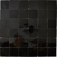 Mosaïque mur Zellige noir 5 x 5 cm Modern Barn, Dream Apartment, Leroy Merlin, Cool Kitchens, Tile Floor, How To Look Better, House, Powder Horn, Bathroom