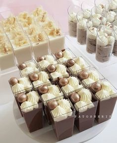 Follow me pritikar0000 Cute Desserts, Wedding Desserts, Chocolate Desserts, Dessert Recipes, Dessert Buffet, Dessert Bars, Mini Dessert Cups, Dessert Shooters, Wedding Reception Food