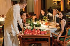 """Choose from the highest quality cuts of beef at Sterling Steakhouse, recently voted one of the """"Best Cruise Ship Steakhouses"""" by USA Today."""