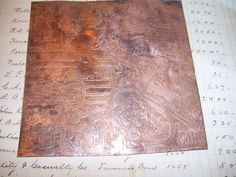 Made to Order Etched Copper sheet Travel by UrbanRomantic on Etsy, $15.00