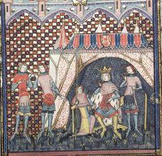 Bodley 264 Romance of Alexander Fol 138v, 1338-44, Jehan de Grise and his workshop