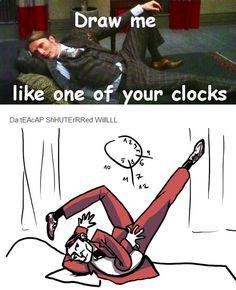 Hannibal: Draw me like one of your clocks (lol)