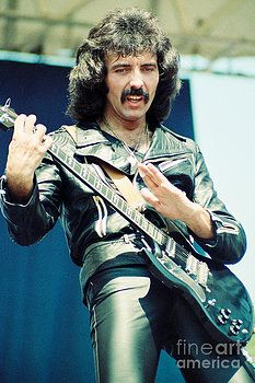 Tony Iommi of Black Sabbath during 1980 Tour by Daniel Larsen