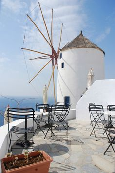 The Windmills of Santorini