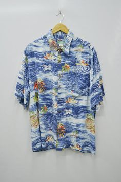 98279b595 Reyn Spooner Shirt Reyn Spooner Hawaiian Size L Vintage Reyn Spooner  Hawaiian Traditionals All Over Print 100% Spun Rayon Button Down