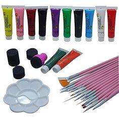 29PCS  Pink Painting Brush Kits 2-Way Pen Nail Art Dotting Tools Set – AUD $ 22.28