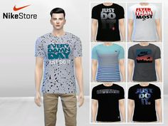 The Sims Resource: Large Nike Graphic Tees by McLayneSims • Sims 4 Downloads