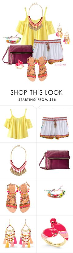 """shorts contest"" by leeann829 ❤ liked on Polyvore featuring Chicnova Fashion, Calypso St. Barth, Kate Spade, Botkier, Elina Linardaki, Venessa Arizaga and Rosantica"