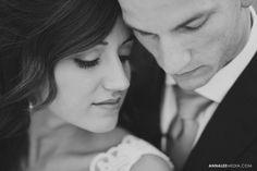 © Anna Lee Media | Oklahoma Wedding Photographer, close up portrait, b&w, bride and groom, post wedding couple bridal photo shoot session
