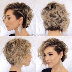 "Easy Hairstyle Tutorials For Girls With Short Hair - Hair ., Easy hairstyles, "" Easy Hairstyle Tutorials For Girls With Short Hair - Hair Tutorials Source by mbneronskaya. Bob Haircuts For Women, Best Short Haircuts, Short Hair Cuts For Women, Haircut Short, Haircut Bob, Haircut Styles, Curly Bob Haircuts, Braids For Short Hair, Girl Short Hair"