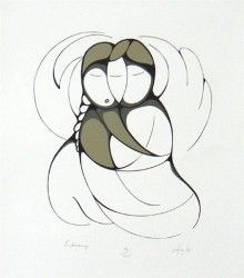 Embracing (love suite) by Daphne Odjig